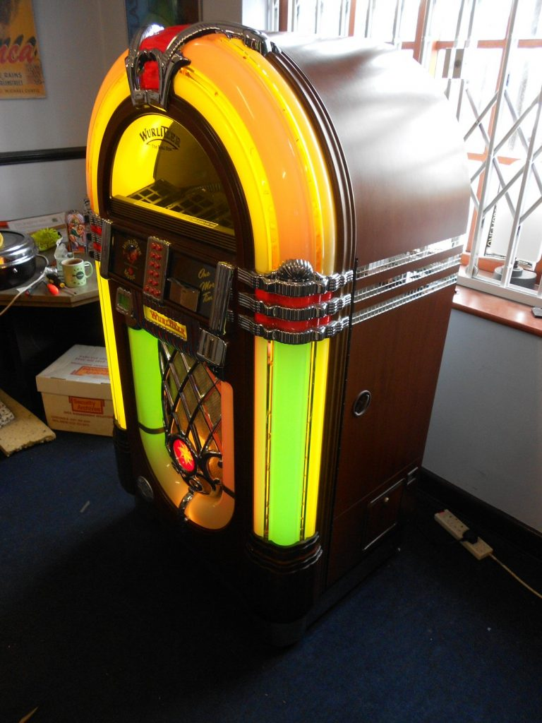 Wurlitzer One More Time jukebox with iPod dock